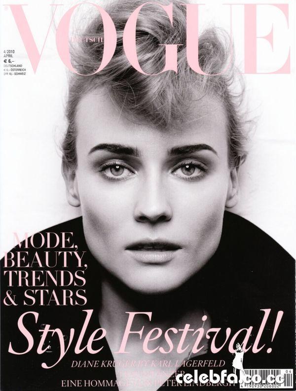 فتوشات های دیان کروگر در شماره اپریل 2010 مجله Vogue آلمان/www.ak3fa.ir