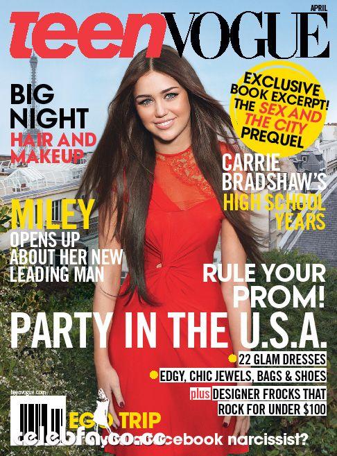 عکس های مایلی سایرس در شماره اپریل 2010 مجله Teen Vogue/www.ak3fa.ir