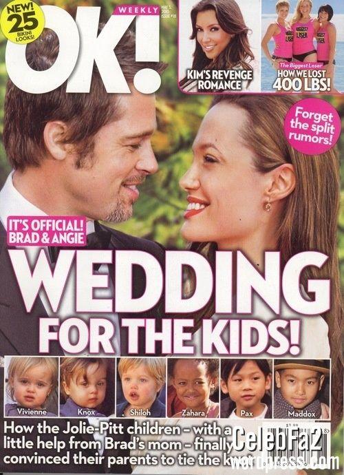 عروسی آنجلینا جولی و براد پیت - تیتر مجله اوکی  !