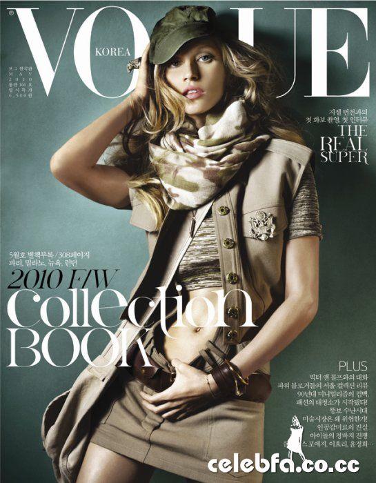 ژیسل بوندچن مجله  Vogue مه 2010